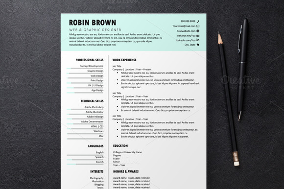 Mint Resume 3 Templates