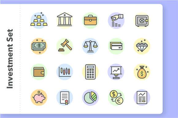 Investment And Finance Icon Set
