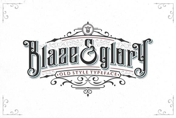 Blaze Glory Typeface
