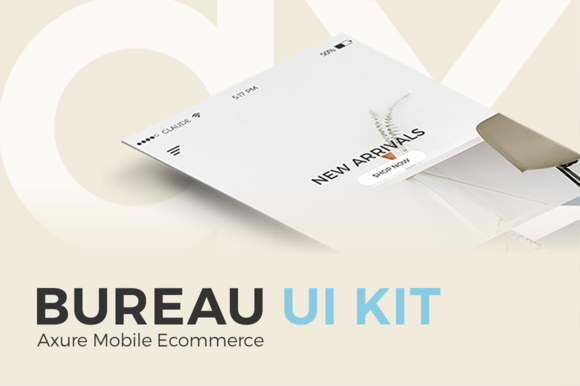 Bureau UI Kit Axure Mobile Ecommerce