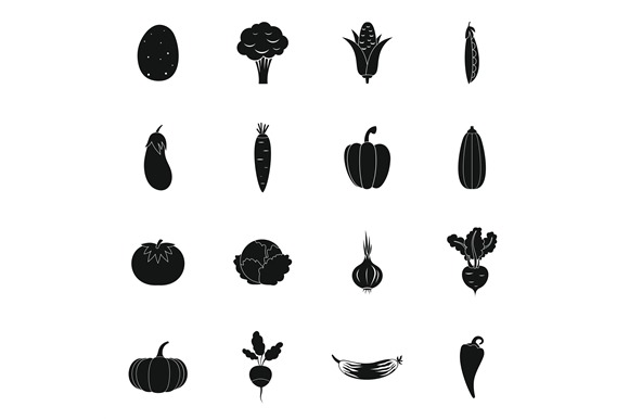 Vegetables Icons Set