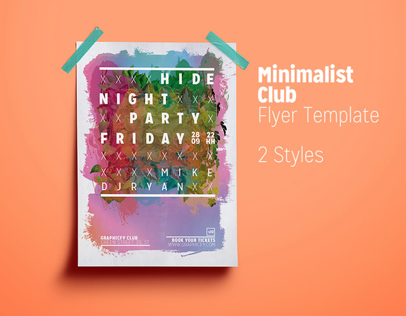 Minimalist Club Flyer Template