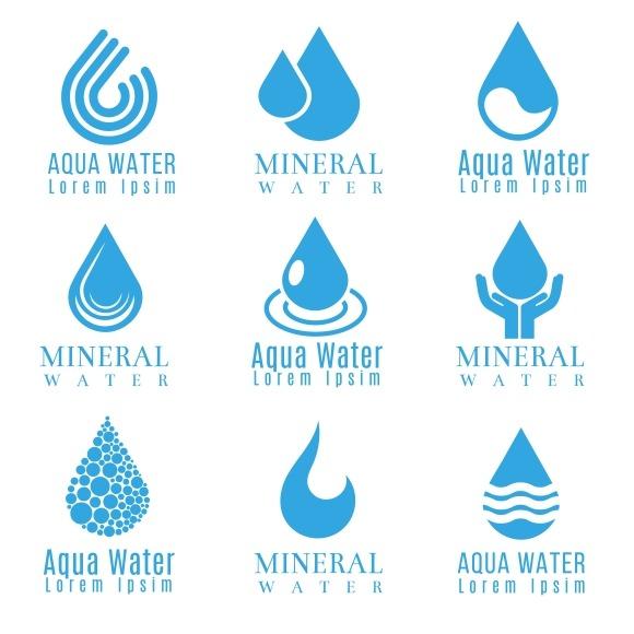 Blue Water Drop Logos