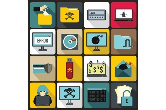 Criminal Activity Icons Set