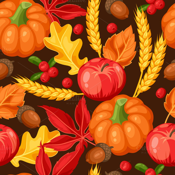 Thanksgiving Day Or Autumn Patterns