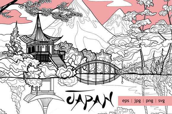 Japan Decorative Sketch Set
