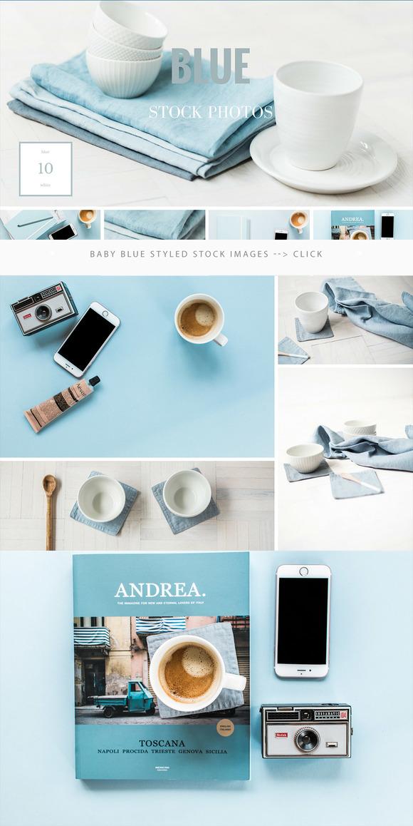 Baby Blue Styled Desktop Photos 10