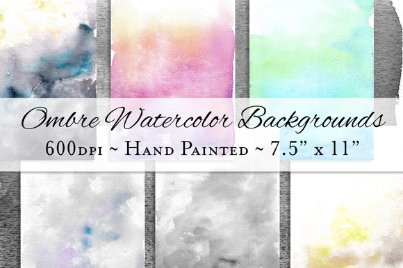Ombre Watercolor Background Textures