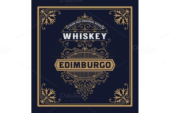 Vintage Label For Whiskey