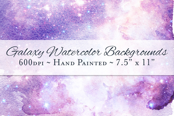 Galaxy Watercolor Ombre Backgrounds