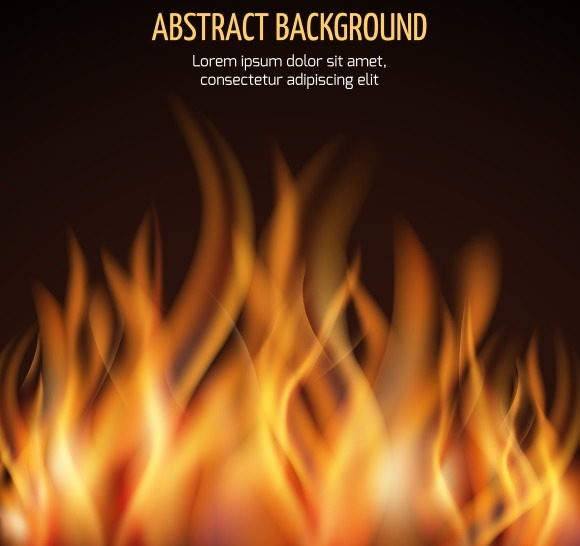 Fire Flame Vector Background