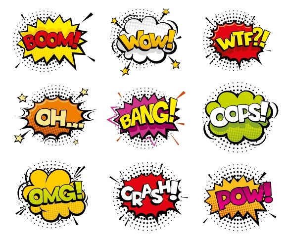 Comic Sound Effects In Pop Art