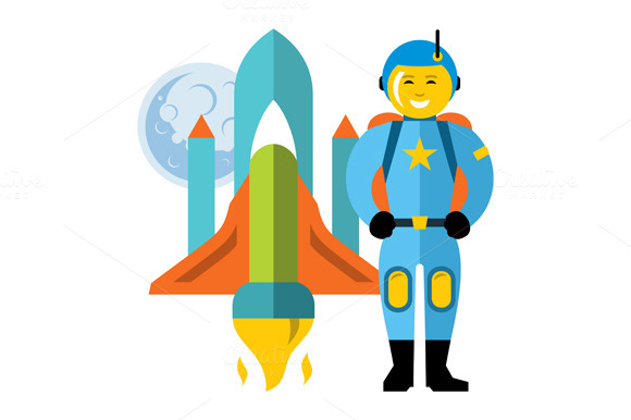 Astronaut And Space Shuttle