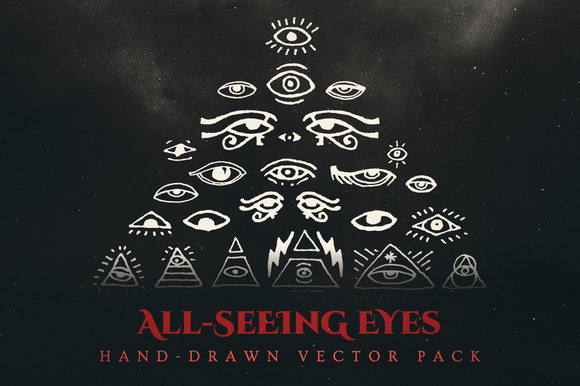Esoteric All-Seeing Eyes Vector Pack