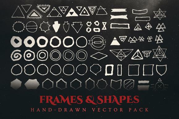 Esoteric Frames Shapes Vector Pack