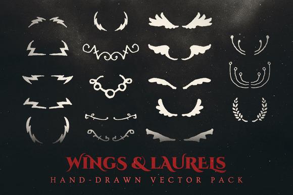 Esoteric Wings Laurels Vector Pack