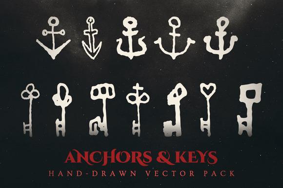 Esoteric Keys Anchors Vector Pack