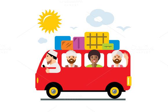 Refugees Bus