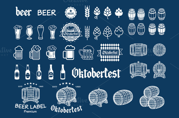 Beer Icon Chalkboard Set