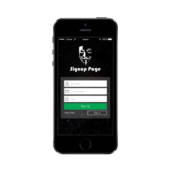 App UI-Login Signup Screen