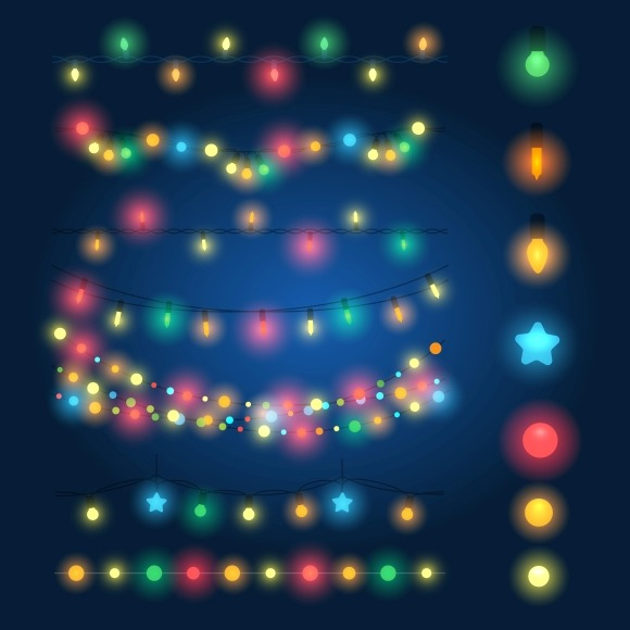 Christmas String Lights Background : String Of Christmas Lights Clip Art Designtube - Creative Design Content