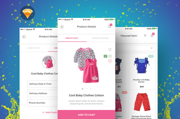 BabyPink Product IOS User Interface