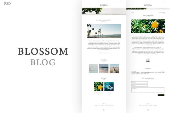 Blogger Template Blossom PSD