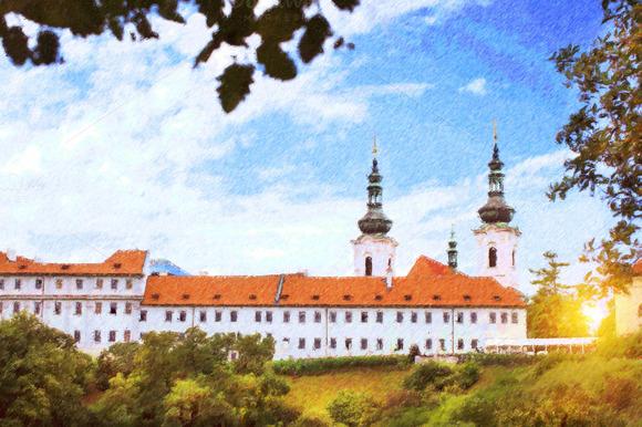 Strahov Monastery In Prague Czech Republic