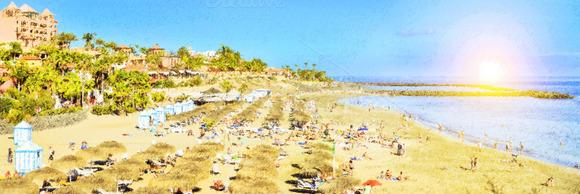 Sandy Beach Tenerife Spain
