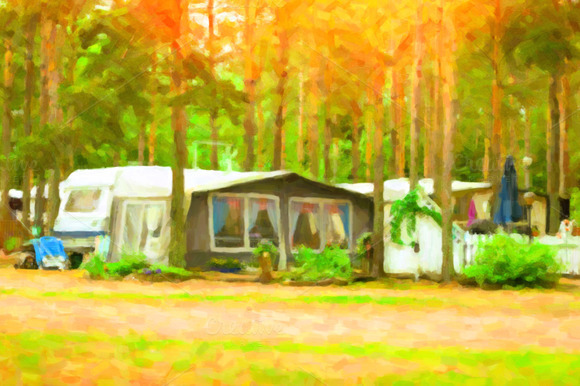 Scandinavian Camping In Camps And Tents Stylized Photo