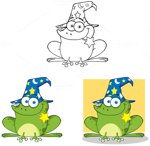 Smiling Wizard Frog Collection