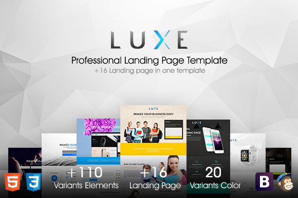 LUXE MultiPurpose Landing Pages