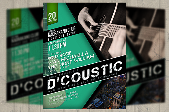 Acoustic Music Event Flyer Poster