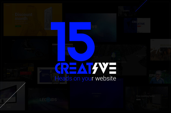 15 Creative Head On Your Website