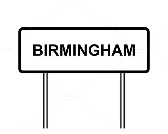 UK Town Sign Illustration London