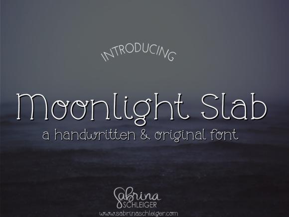 Moonlight Slab- Handwritten Font