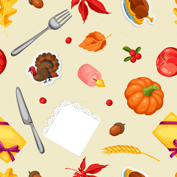 Thanksgiving Day Seamless Patterns