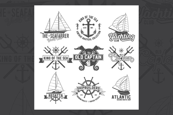 Yacht Club Badges Logos And Labels