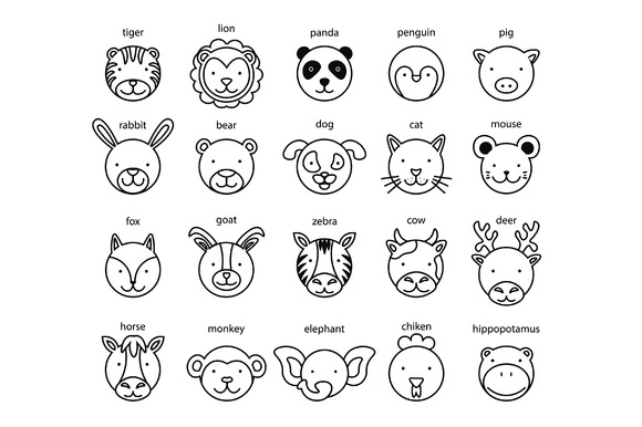 Line Drawings Of Animals Free Download : Line drawings of animals free download designtube