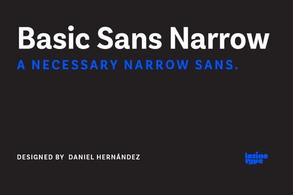 Basic Sans Narrow 88% Off