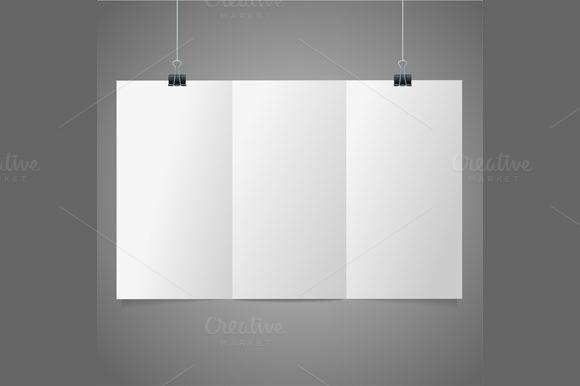 Blank Folded Leaflet White Paper