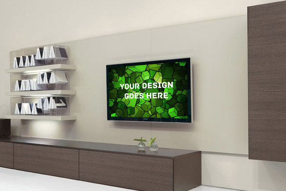Television Display Mock-up#8