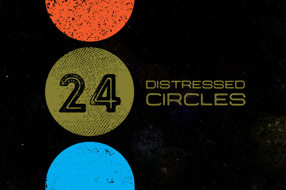 24 Distressed Circles