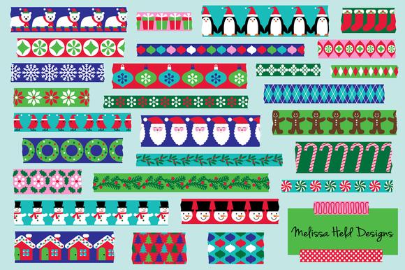 Christmas Washi Tape Clipart