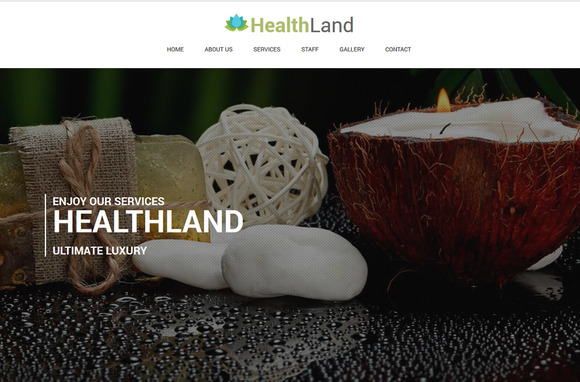 Healthland Responsive One Page Spa