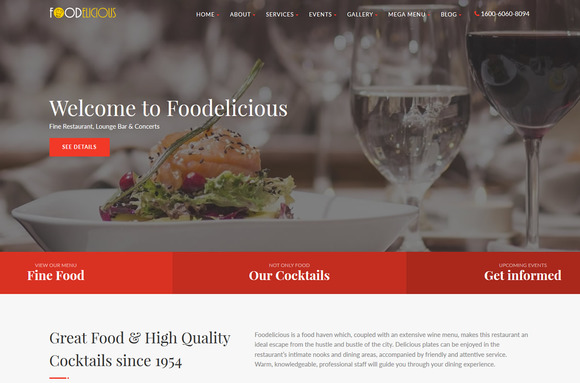 Foodelicious Restaurant Template