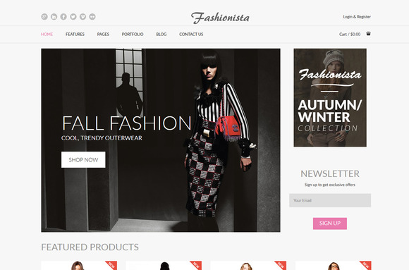 Fashionista Fashion Ecommerce