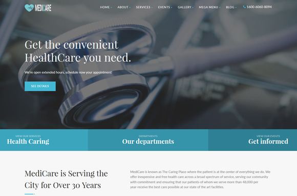 Medicare Medical Html Template