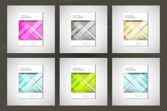 Set Abstract Flyers Brochure