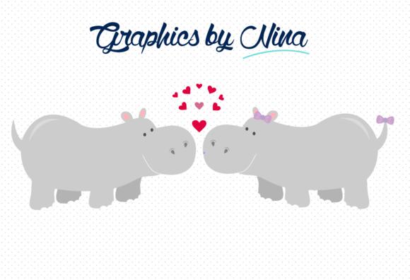 Love Hippos Clipart